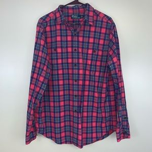 Polo Ralph Lauren Plaid Button Up Dress Shirt